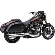 "Cobra 4"" Dual Cut Slip-On Mufflers Chrome"