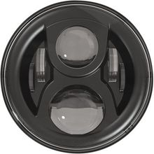 "JW Speaker 7"" 8700 EVO 2 Dual Burn Headlight w/o Mounting Ring- Black"