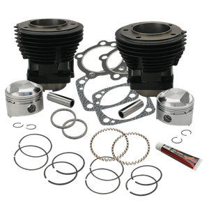 """80"""" 3-1/2"""" Bore Cylinder and Standard Compression Piston Kit for 1979-'84 80"""" HD® Big Twins - Gloss Black Finish"""