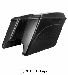 """'94-'13 Stretched Saddlebags 4"""" Extended Color Match"""