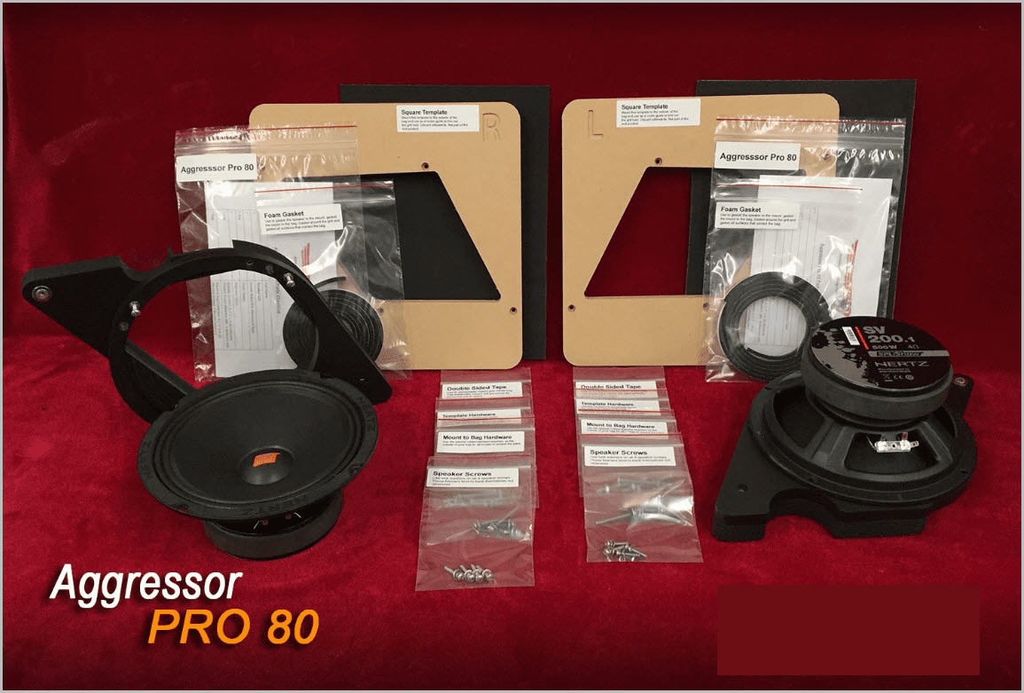 """Aggressor Pro 80 Single 8"""" Left & Right Woofer Mounting Kit"""