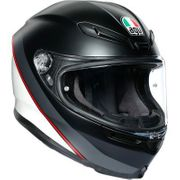 AGV  K-6 Minimal Matte Black/White/Red