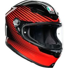 AGV  K-6 Rush Black/Red