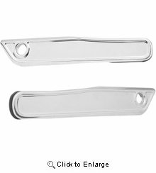 Alloy Art - Latch Covers with Light - Chrome
