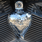 Angel Wing Heart in Polished Aluminum