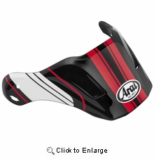 Arai XD4 Replacement Visors-Distance Red