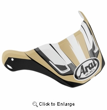 Arai XD4 Replacement Visors-Flare Sand Frost