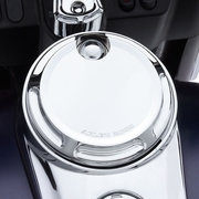 Arlen Ness Beveled Fuel Door - Chrome