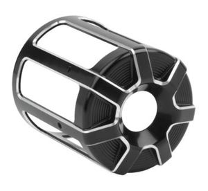 Arlen Ness Beveled Oil Filter Covers- Black