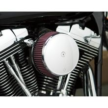 Arlen Ness Big Sucker Stage 1 Air Filter w/ Cover- Smooth Chrome- Twin Cam & XL