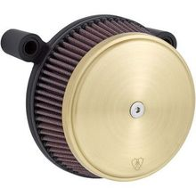Arlen Ness Big Sucker Stage 1 Standard Air Filter- Smooth Brass- Twin Cam & XL