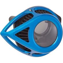 Arlen Ness Clear Tear Air Cleaner- Anodized Blue