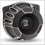 Arlen Ness Deep Cut Inverted Air Cleaner in Black