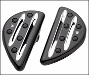 Arlen Ness Deep Cut Passenger Footboards in Black