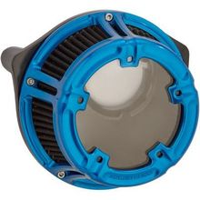 Arlen Ness Method Clear Series Air Cleaner- Anodized Blue