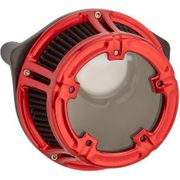 Arlen Ness Method Clear Series Air Cleaner- Anodized RED