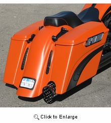 BaggerNation Chupa Rear CVO Fender For Big Bags - Right Outlet