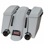 BaggerNation Swoop Fender- Dual Outlet - For Swoop Saddlebags - CVO Light Cutout and Black Stealth 2 Frame