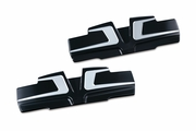 Bahn� Rocker Cover Accents for Twin Cam -  Tuxedo