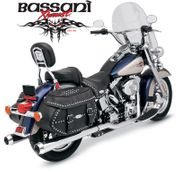 Bassani MEGA SLIP-ON for Softail