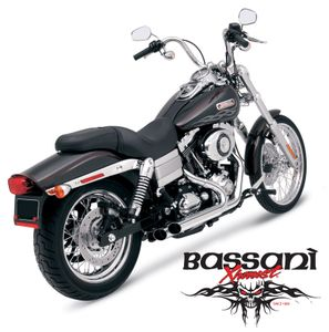 Bassani PRO-STREET Slash Cut For Dyna