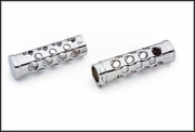 Chrome Hole Grips