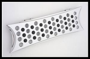Battistinis Chrome Rectangle Footboards
