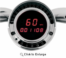 BIG DOG DIRECT PLUG-IN SPEEDOMETERS-RED