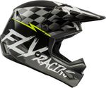 FLY RACING - YOUTH KINETIC SKETCH HELMET BLACK/WHITE/HI-VIS