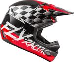 FLY RACING - KINETIC SKETCH HELMET RED/BLACK/GREY