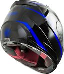 GMAX - FF-88 FULL-FACE PRECEPT HELMET BLACK/BLUE