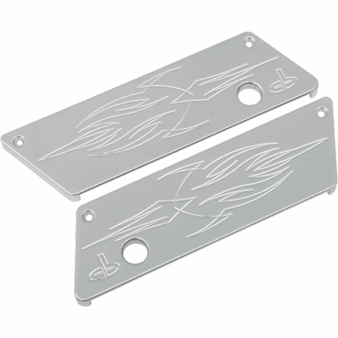 CARL BROUHARD Lefty Series Latch Cover in Chrome
