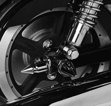 Chopper Style Rear Axle Adjuster Covers
