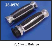 Chrome and Rubber Barrel Profile Rail Grips