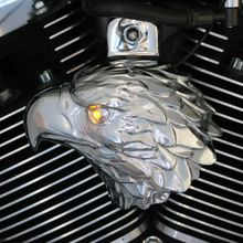 Chrome Bald Eagle w/ LED Eye