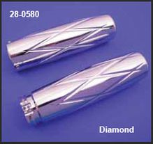 Chrome Billet Diamond Grip Set