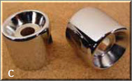 Chrome Upper Shock Cover for 91-99