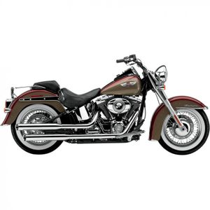 """Cobra 3"""" Slip-On Mufflers with Tips for V-Twin"""