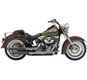 "Cobra 3"" Slip-On Mufflers with Tips for V-Twin Black"