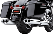 Tri-Oval 2 Slip-on Mufflers Chrome