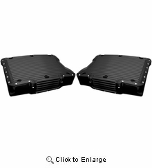 Covingtons Customs Dimpled Rocker Box Cover-Twin Cam