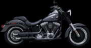 "Crusher 2.5"" Maverick Slip-on Mufflers in Black"