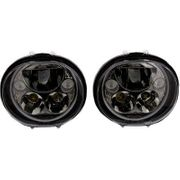 Custom Dynamics 5.75in TruBeam LED Headlamp Pair- Black Chrome