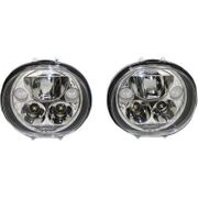 Custom Dynamics 5.75in TruBeam LED Headlamp Pair- Chrome