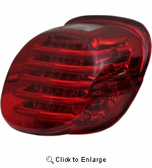 Custom Dynamics - Taillight - with License Plate Illumination Window - Red
