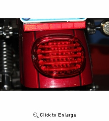 Custom Dynamics - Taillight - without License Plate Illumination Window - Red
