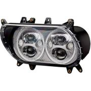 Custom Dynamics TruBeam LED Headlamp- Chrome
