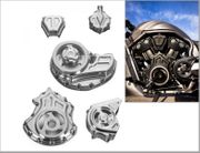 Cut-Out Engine and Transmission Covers - Complete Kit for V-Rod Muscle-