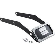 Cycle Vision Curved License Plate Frame & Mount w/ Light