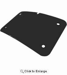 Cycle Visions 3 Hole License Plate Mount-Black